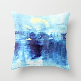 Blue Moonlit Waters  Throw Pillow