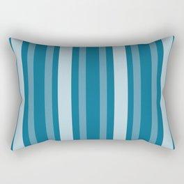 Dark Cerulean Victorian Lady Stripe Rectangular Pillow