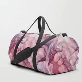 Liquid Mauve Abstract Duffle Bag