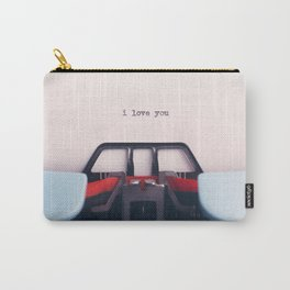 Love Letter // I Love You Written On Vintage Typewriter Carry-All Pouch