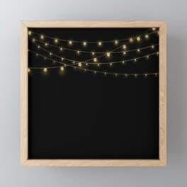 Gold rich Glitter Chain- Treasure Sparkle Framed Mini Art Print