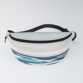 Geometric seashore, beach in USA Fanny Pack