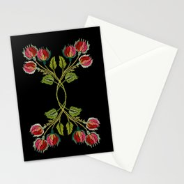 Embroidered Scandi Flowers Stationery Cards
