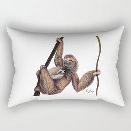 Three Toed Sloth Rectangular Pillow