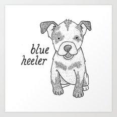 Dog Breeds: Blue Heeler/Australian Cattle Dog Art Print
