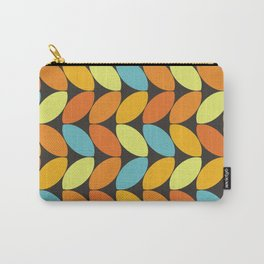 Retro 70s Color Palette Leaf Pattern II Carry-All Pouch