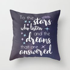 The Stars Who Listen Throw Pillow