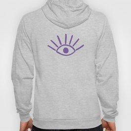 Purple Evil Eye Pattern Hoody