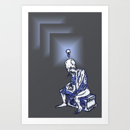 Writer's Block: Bright Ideas  Art Print