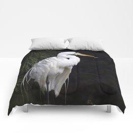 Great White Egret Comforters