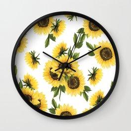 Lovely Sunflower Wall Clock