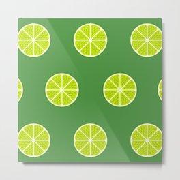 Lime Light Metal Print