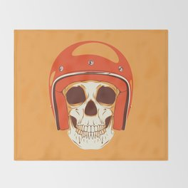Helmet Skull Throw Blanket