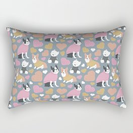 Dogs in Sweaters Rectangular Pillow