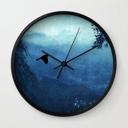 Blue Mountain Haze Wall Clock