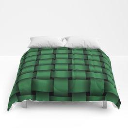 Large Dark Green Weave Comforters