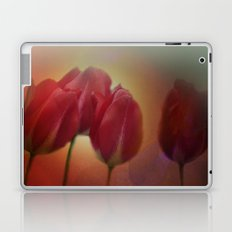 window curtain with flowerpower -3- Laptop & iPad Skin
