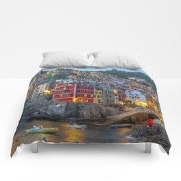 Riomaggiore of Cinque Terre Comforters
