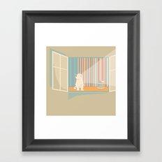 Catching some morning sun Framed Art Print