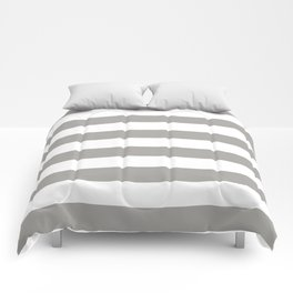 Horizontal Stripes Pattern: Grey Comforters