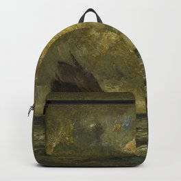 Jules Louis Dupre - Two Boats in a Storm - Digital Remastered Edition Backpack