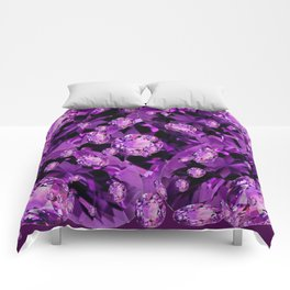 GALAXY OF PURPLE AMETHYST FACETED JEWEL GEMS BIRTHSTONE Comforters
