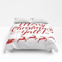 MERRY CHRISTMAS YALL Comforters