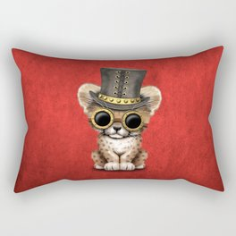 Steampunk Baby Cheetah Cub Rectangular Pillow