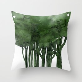 Tree Impressions No.1C by Kathy Morton Stanion Throw Pillow