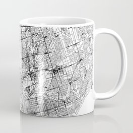 Toronto White Map Coffee Mug