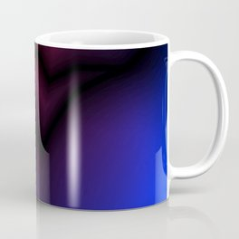 Cosmic sparkling hole of blue zigzags and red spots. Coffee Mug