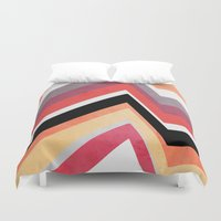 airplanes Duvet Covers featuring geometric   by mark ashkenazi