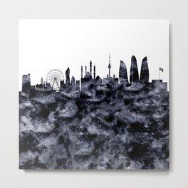 Baku Skyline Azerbaijan Metal Print