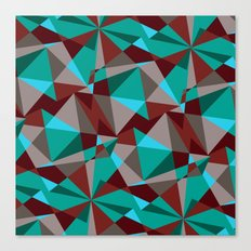 Triangle cubes Canvas Print