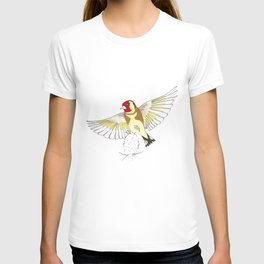 Goldfinch in flight T-shirt
