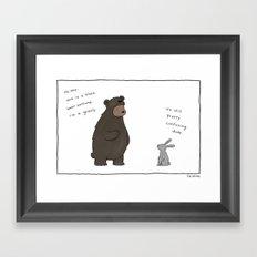 Bear Costume  Framed Art Print