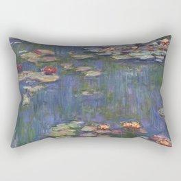Water Lilies (Nymphéas), c.1916 Art, Monet Rectangular Pillow