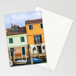 Houses - Boats - Street - Canal - Venice - Murano - Window. Little sweet moments. Stationery Cards