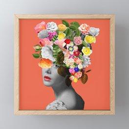 Orange Lady Framed Mini Art Print
