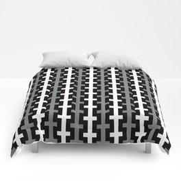 Geometric Pattern 113 (gray lines stripes) Comforters