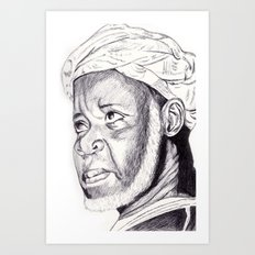 sheikh ibrahim nyass Art Print