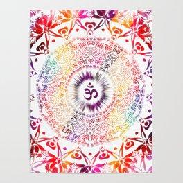 Radiant Om Mandala Poster