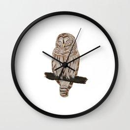 Sleepy Owl Wall Clock