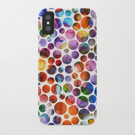 Dots on Painted Background 5 iPhone Case