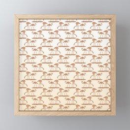 Gold Leaf Flamingo Pattern Framed Mini Art Print