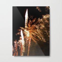 Feisty fireworks Metal Print
