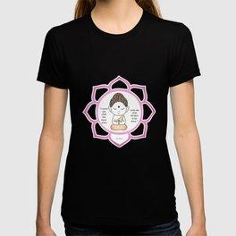 Cute little Buddha in a lotus flower T-shirt