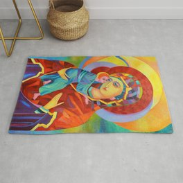 Virgin Mary Painting Madonna and Child Jesus icon Modern Catholic Religious Rug