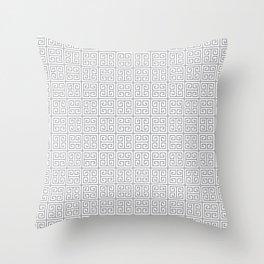Fretwork Pattern Throw Pillow