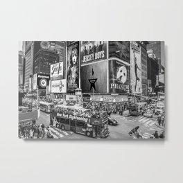 Times Square II (B&W widescreen) Metal Print